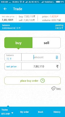 Zebpay से भारत पे बिटकॉइन खरीदने के process