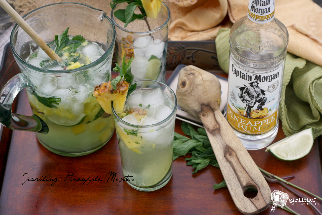 Sparkling Pineapple Mojitos