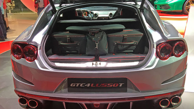 Ferrari GTC4Lusso T with V8 Engine Performance back view