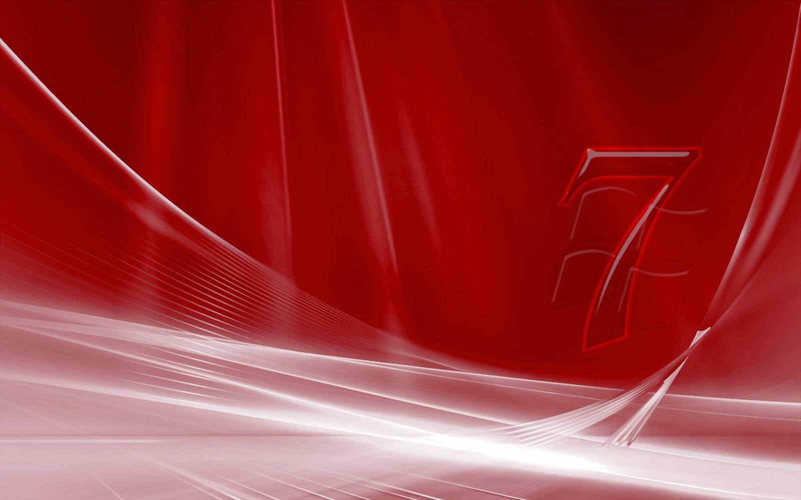 Fondo De Pantalla Windows 7 Rojo