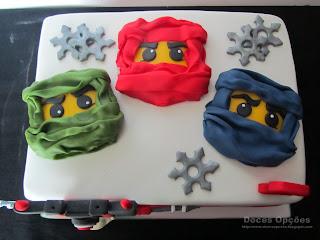 Bolo de aniversário Lego Ninjago bragança