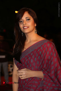 Telugu Television Anchor Anasuya Stills in Saree at Gemini TV Puraskaralu 2016 Event  0041.JPG