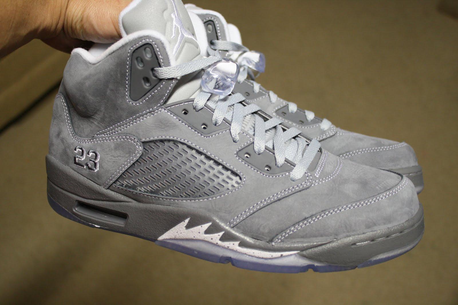 ShoeAffliction: AIR JORDAN 5 RETRO WOLF GREY  Jordans