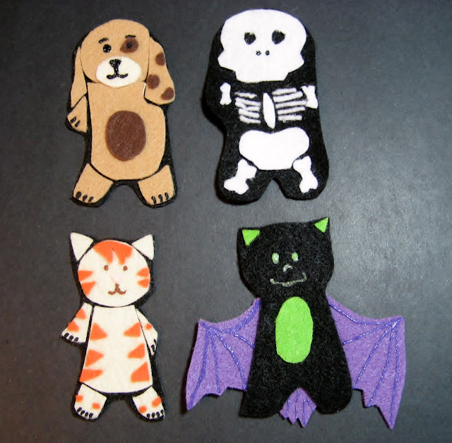 Felt Halloween Animal Costumes 2