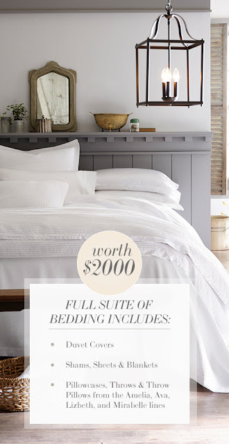 Veranda Magazine wants you to enter once for a chance to win a luxury Queen Size bedding set from Peackock Alley worth over $2000!