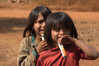 Children from one of our partner villages