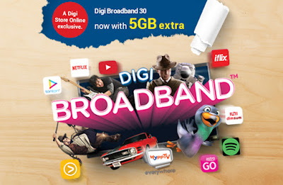 Digi Prepaid Broadband 30 Exclusive Online Only Promo