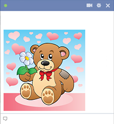 Lovely teddy bear image for Facebook