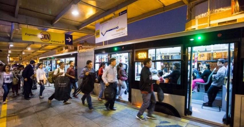METROPOLITANO 2017: Este lunes nuevos servicios expresos, informó Pro Transporte