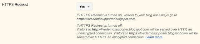 Turn On HTTPS In Blogger Blogs