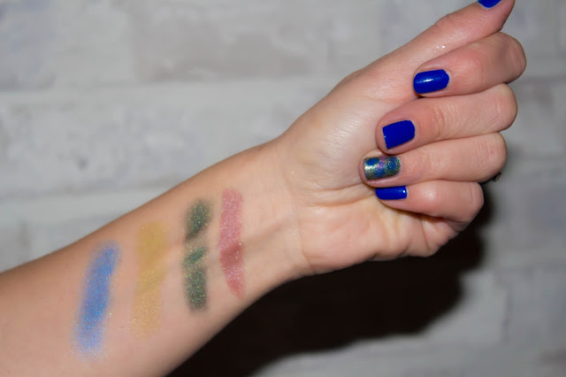Monday Shadow Challenge : du vieux rose, du kaki et du bleu !