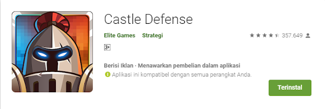 Game Strategi Android Terbaik Castle Defense