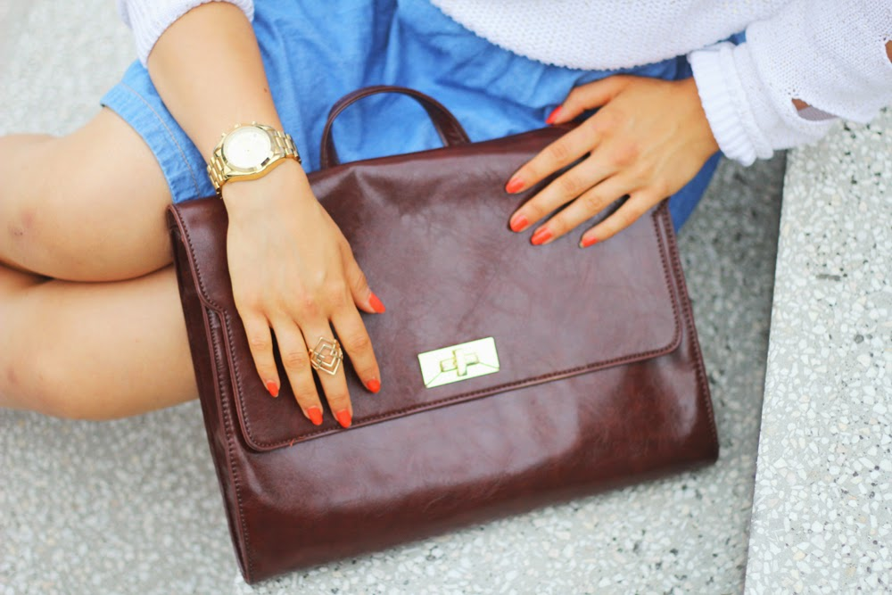 BAG MICHAEL KORS WATCH STYLE MYBERLINFASHION OUTFITPOST