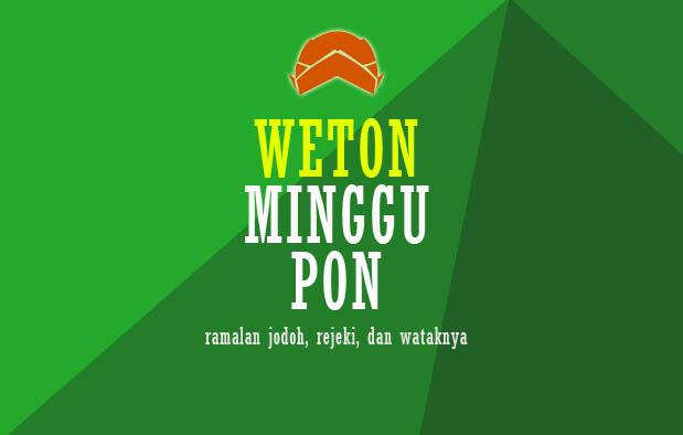 Weton Minggu Pon