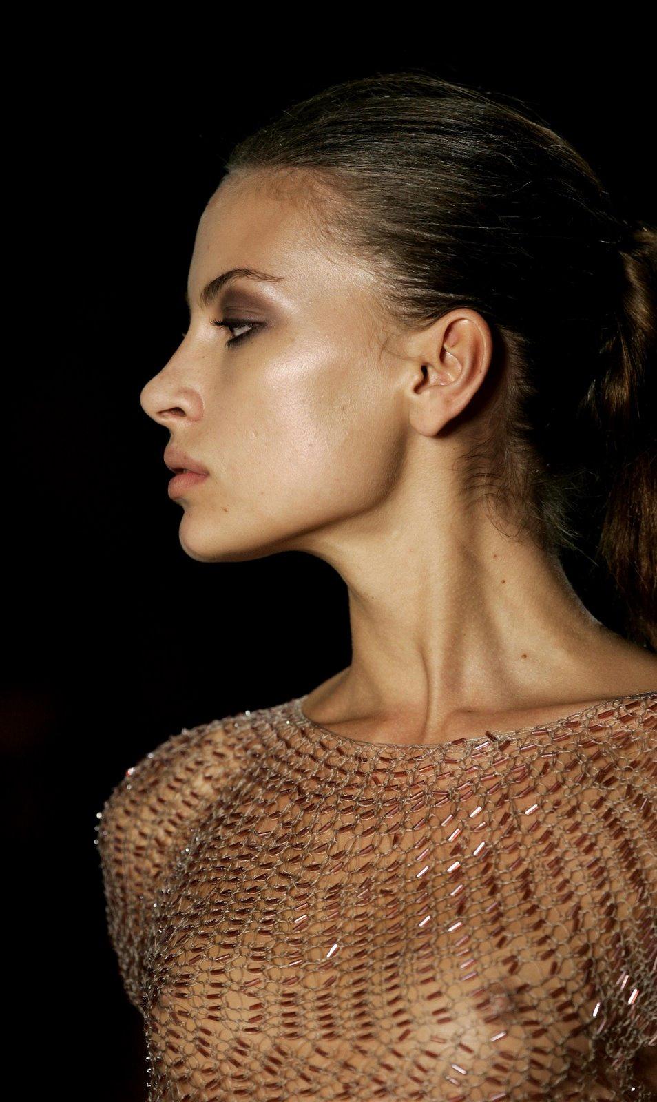 superb catwalk fashion models oops  topless  nip slip hq