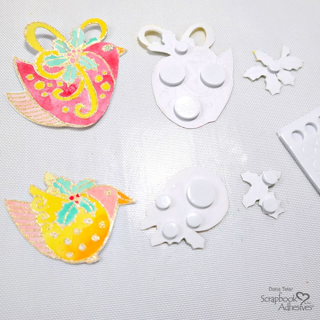 How to Use 3D Foam Circles to Create Layered Embellishments from Stamped and Diecut Images
