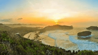 Sunrise Pantai Srau Pacitan