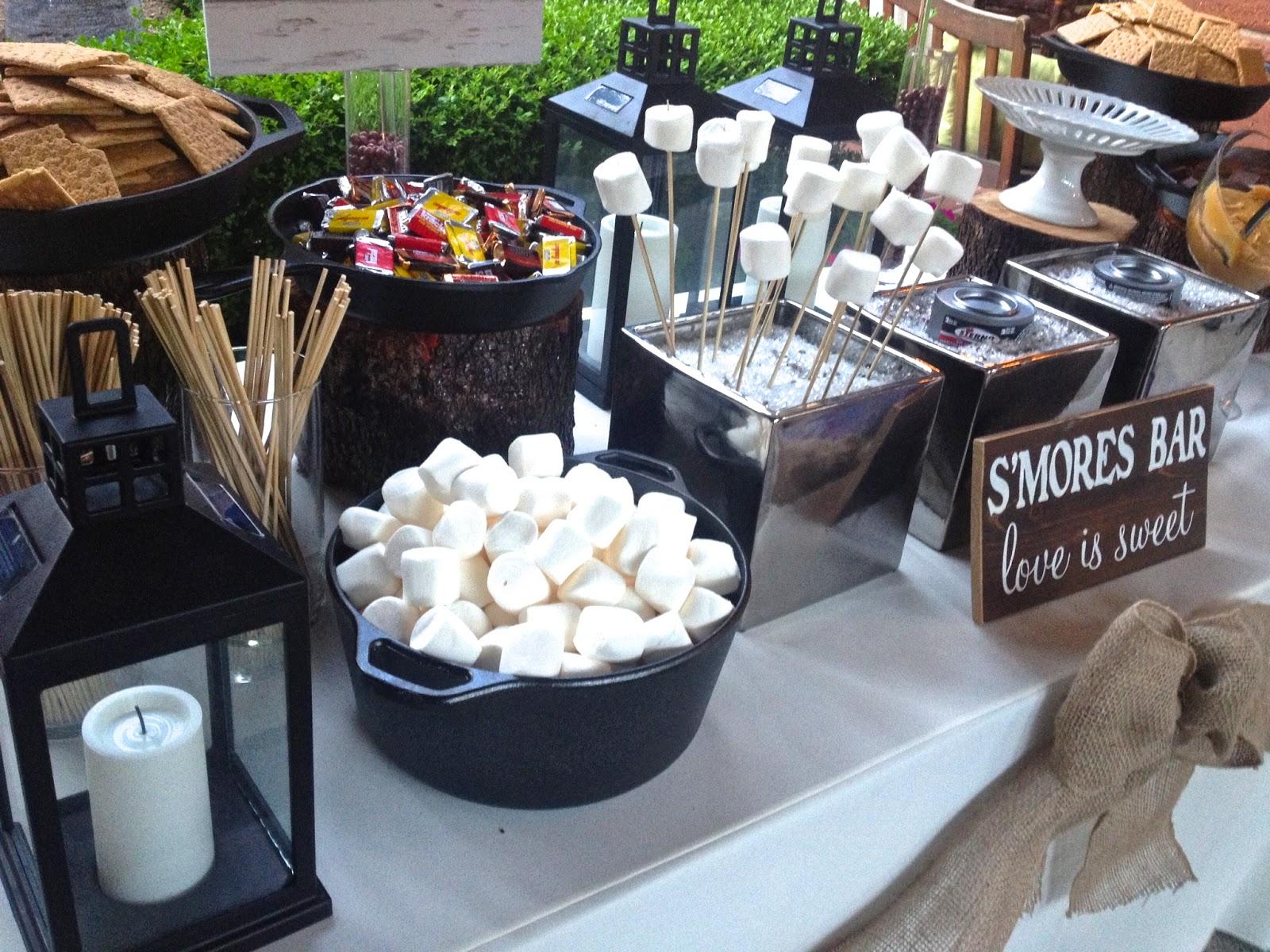 A Rustic Laguna Beach Wedding S'More Bar Station With