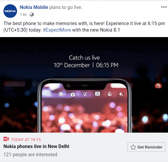 Nokia 8.1 India Launch Event Livestream