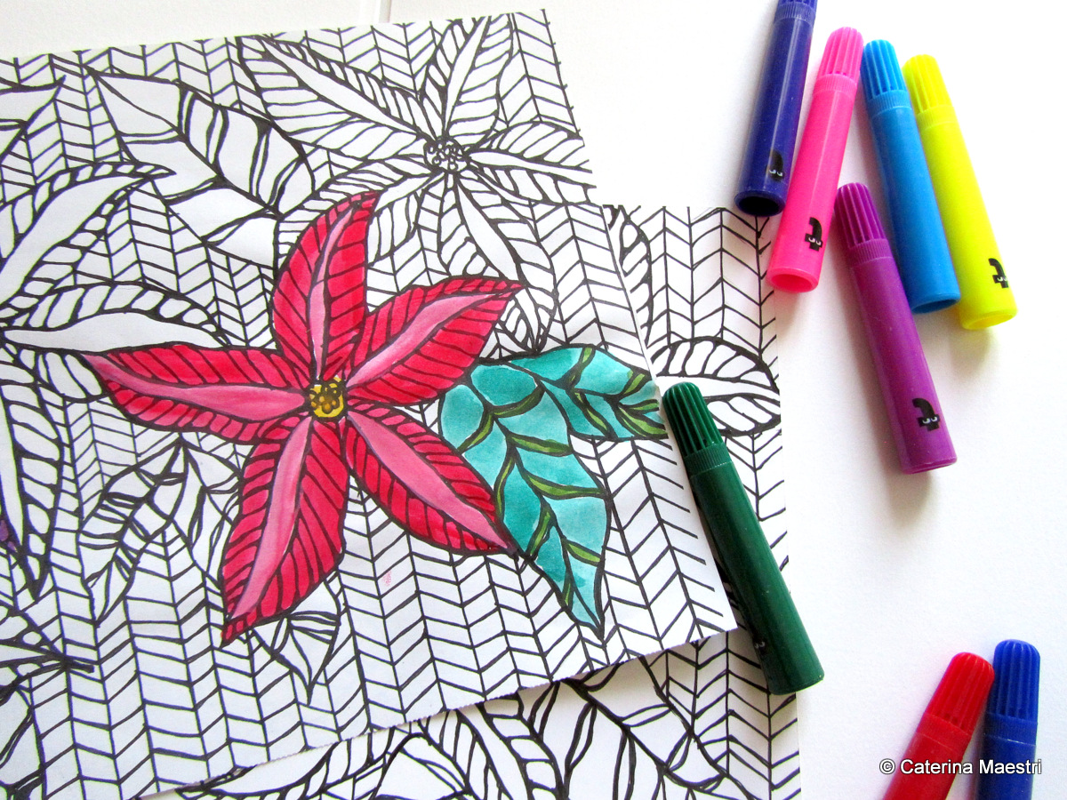 Image Result For Poinsettia Coloring Page