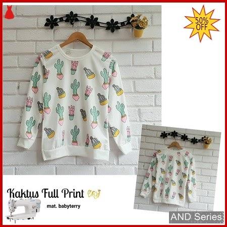 AND183 Baju Atasan Wanita Kaos Kaktus Full BMGShop