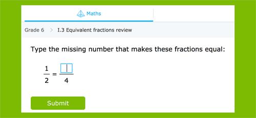 Completa con los números correctos para crear fracciones equivalentes