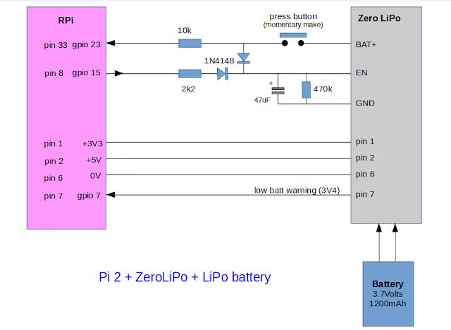 ZeroLiPo Raspberry Pi power up/down circuit