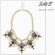 Save, Swipe,Splash - Jewel Necklace
