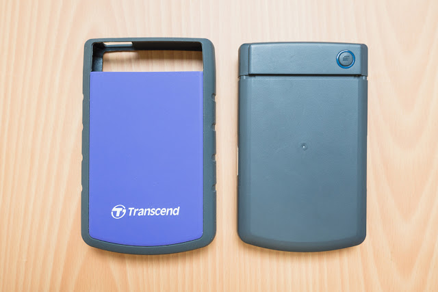 what's inside the transcend 25h3 - rubber enclosure