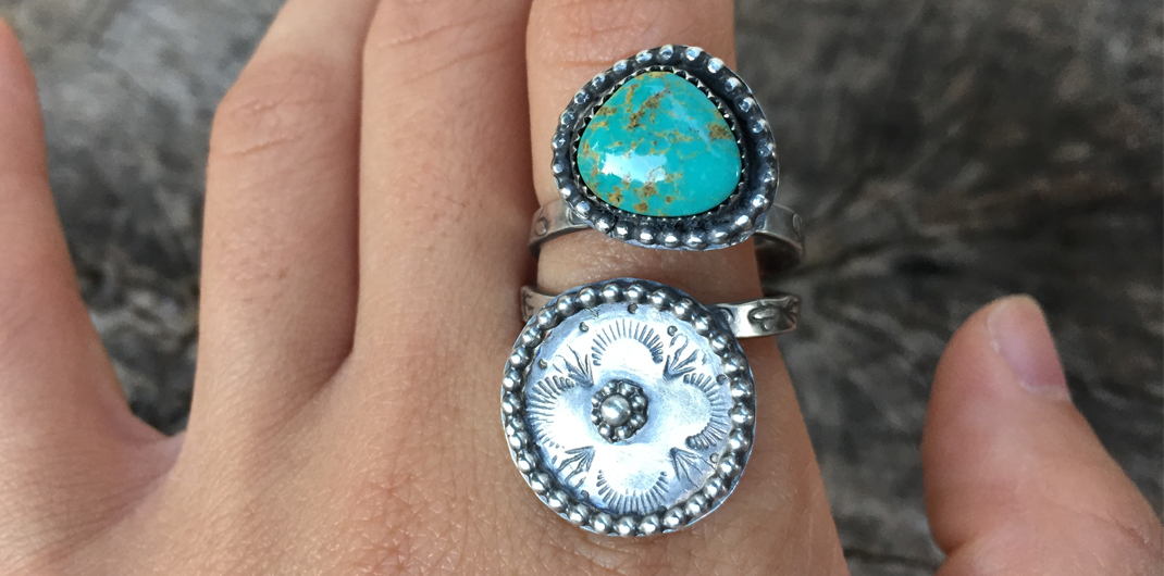 Double Band Turquoise Ring