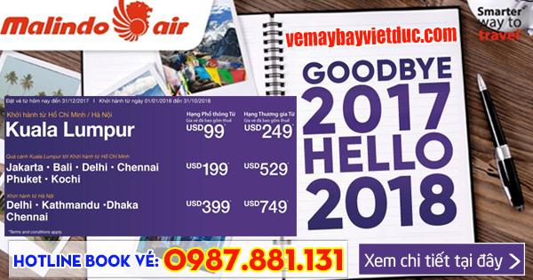 vé khuyến mãi bay đầu năm 2018 hãng Malindo Air