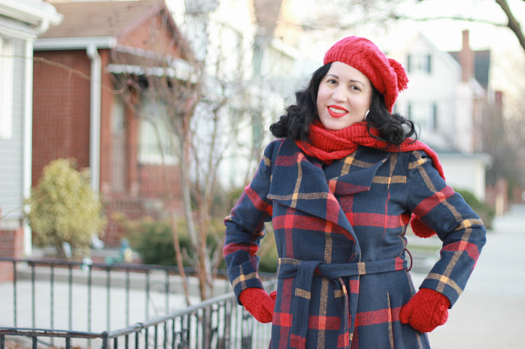 A Vintage Nerd Vintage Fashion Inspiration Modcloth Plaid Coat Plus Size Fashion