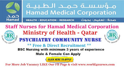 Staff Nurses for Hamad Medical Corporation, Ministry of Health - Qatar