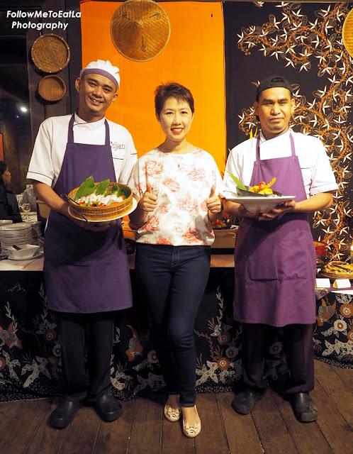 Posing With Chefs At Bijan Bar & Restaurant