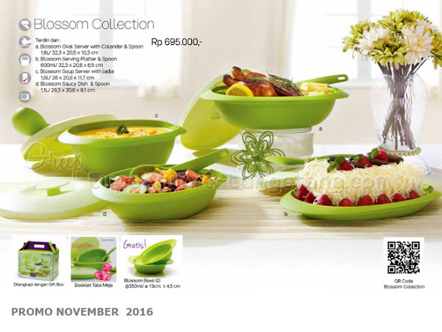 Blossom Collection Promo Tupperware November 2016