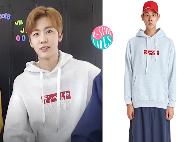 728742b84 Jaemin is wearing the BOX LOGO EMBROIDERED HOODIE from RENVERSE