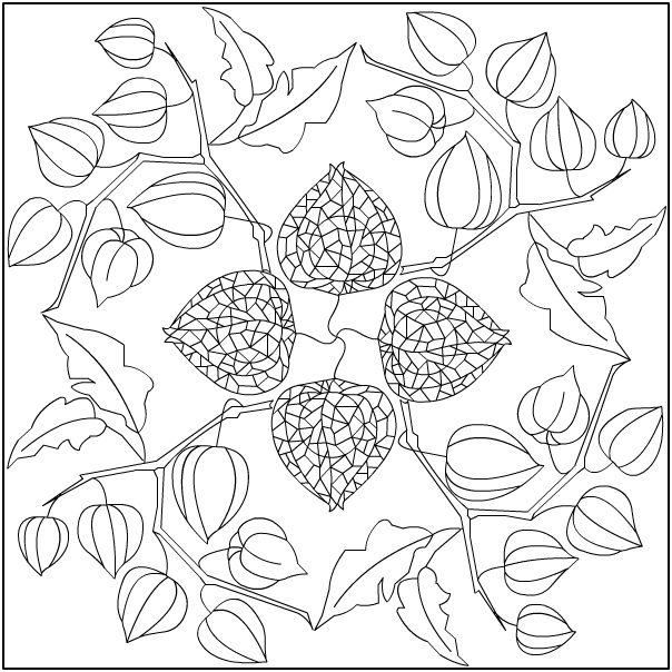 Nicole's Free Coloring Pages: Physalis Mandala * Coloring page