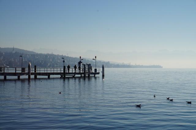 Zürich järvi laituri