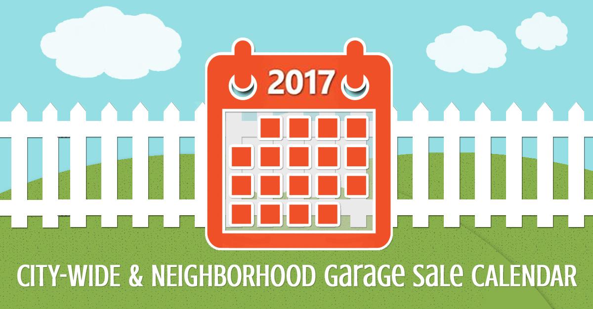 Craigslist Norman Ok >> Calendar Of City Wide Neighborhood Garage Sales 2017
