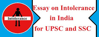 Intolerance in India for UPSC and SSC
