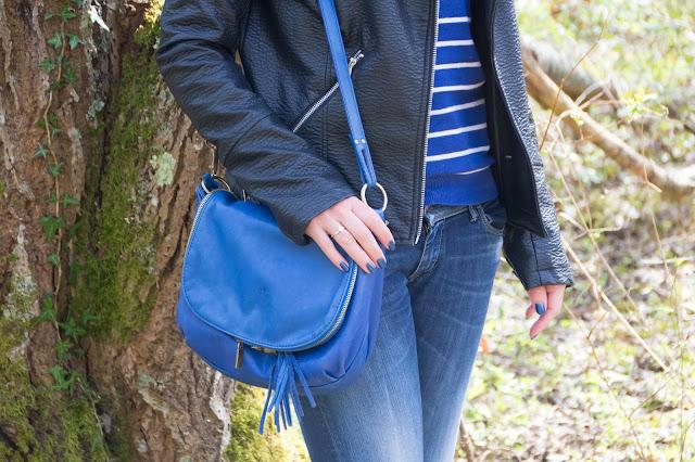 sac a main cuir bleu
