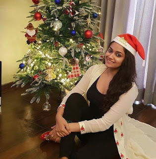 Keerthy Suresh with Cute and Lovely Smile in Christmas Celebrations 1