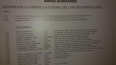 Gota Sebastan Pueblo de Palo Panel conmemorativo Aínsa