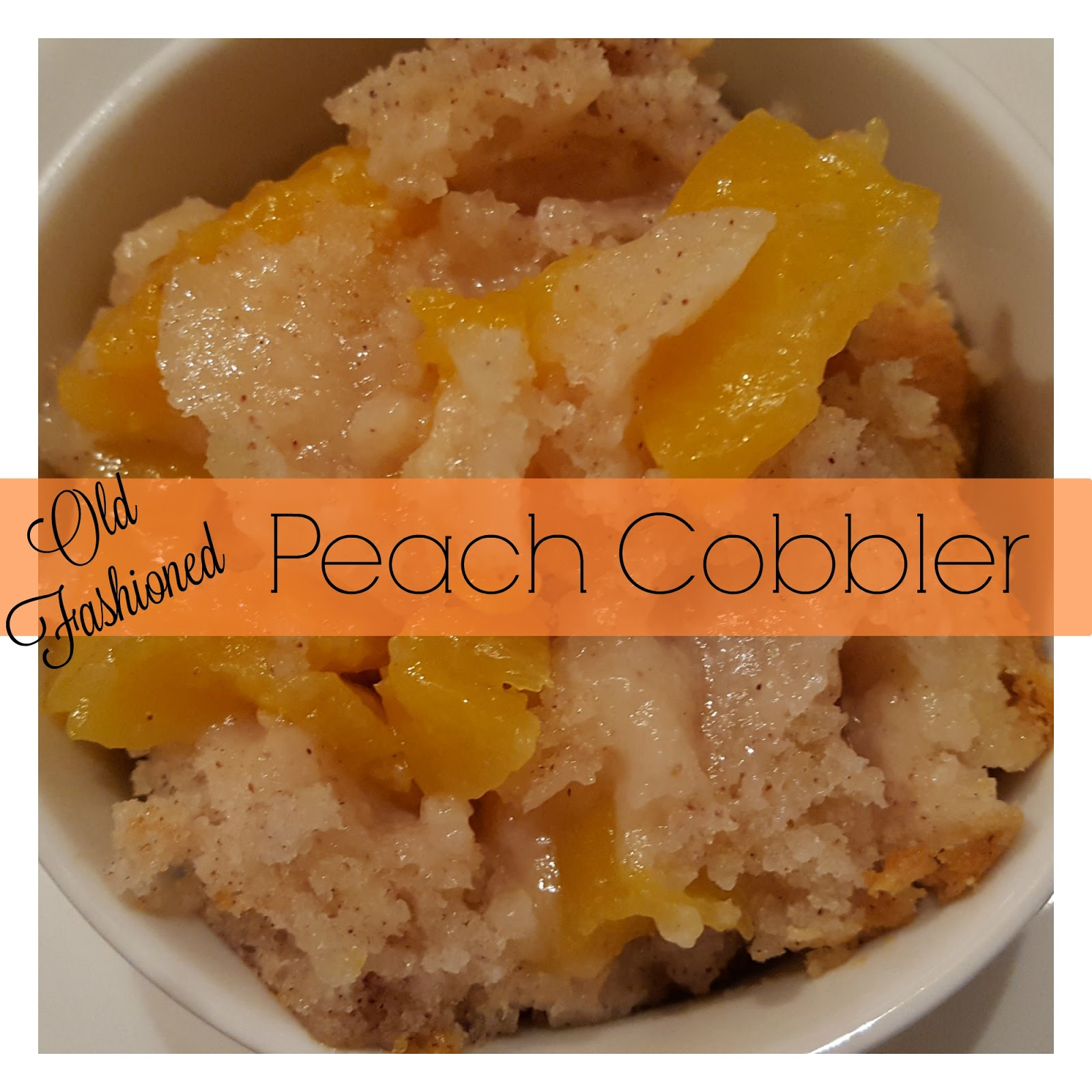 Julia's Simply Southern: Old Fashioned Peach Cobbler
