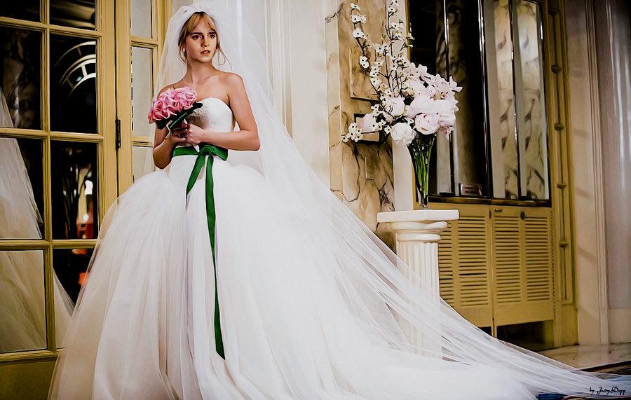 emma watson emma watson in wedding gown