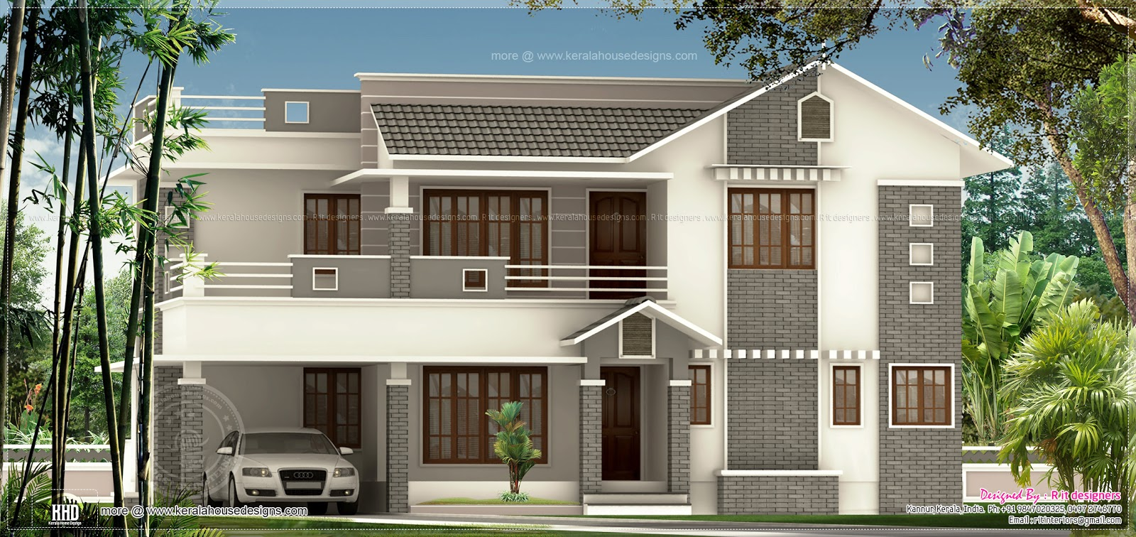 Changing The Front Elevation Of A House : Square feet bedroom exterior home kerala plans