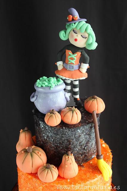 Tarta de fondant Halloween