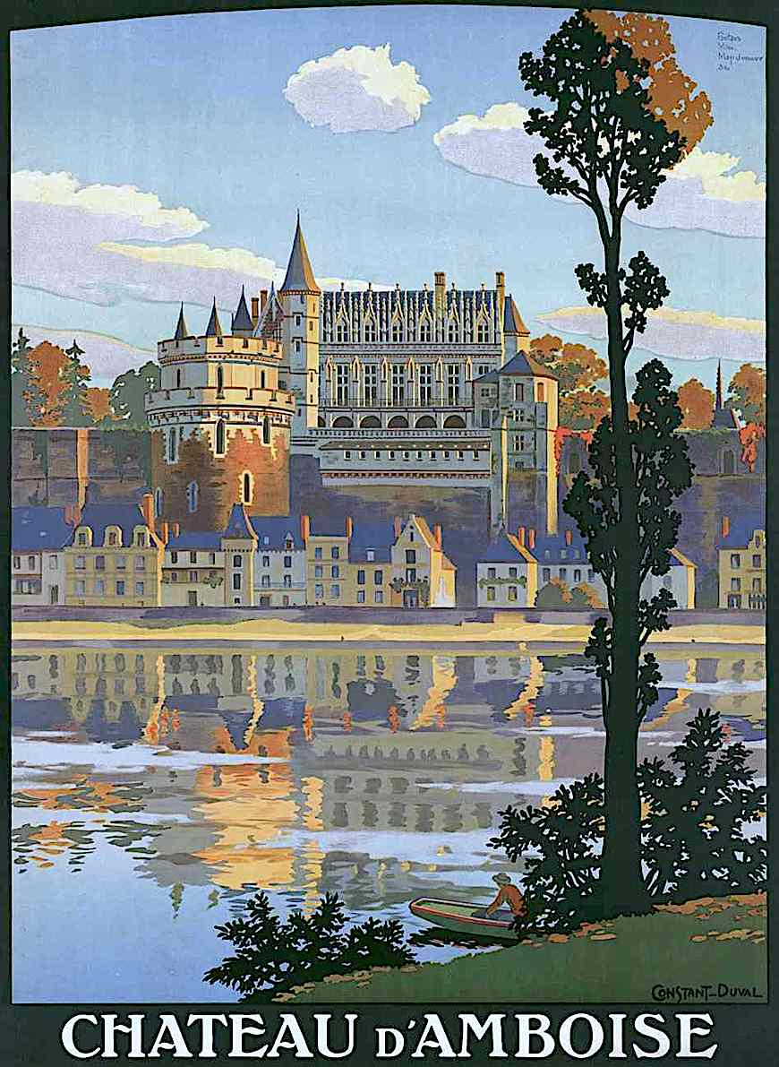 a Constant Duval poster illustration for Chateau D'Amboise