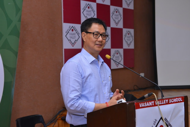 Shri Kiren Rijiju, Union Minister of State for Home Affairs, speaking at the 3rd National School Essay Contest organised by Nanhi Chhaan Foundation