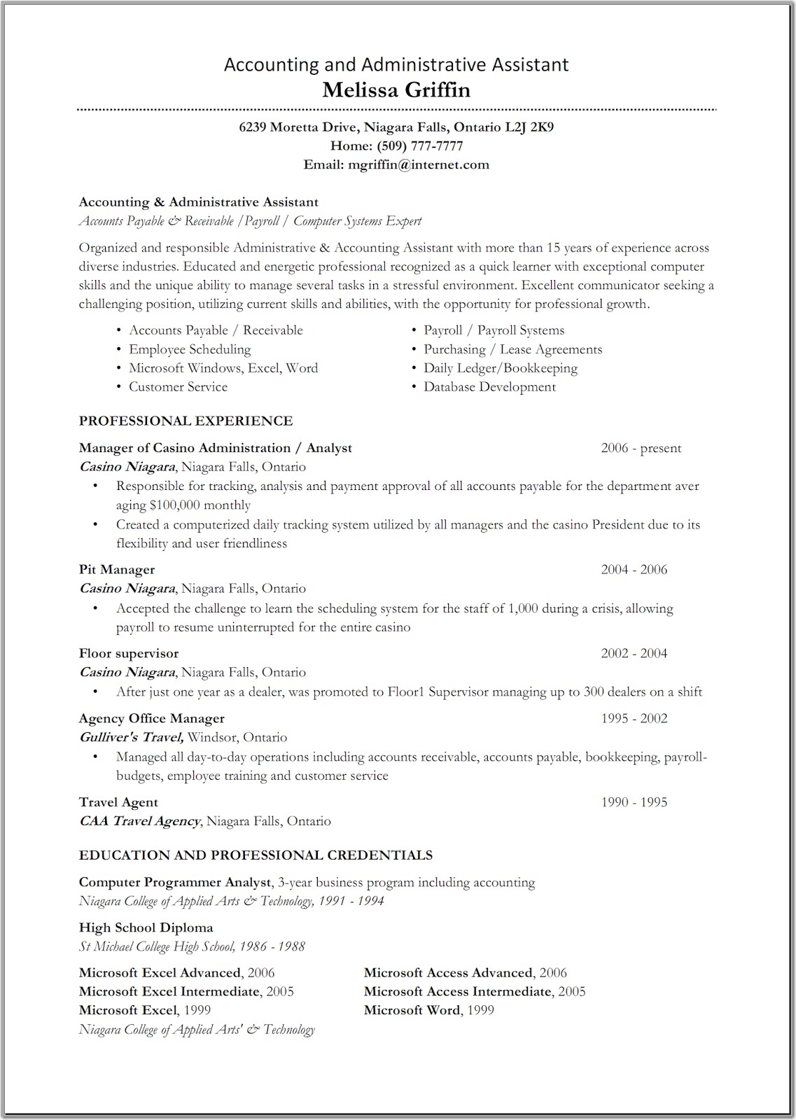 accounting assistant resume resume cv accounting assistant resume